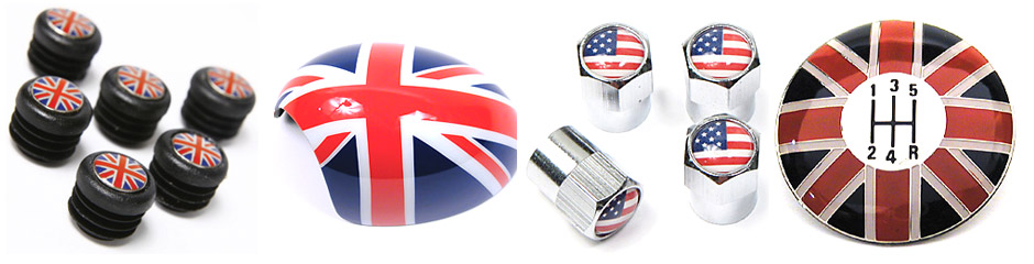 Union Jack / Checkered Flag Accessories - Interior/Exterior On SALE!